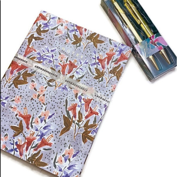 Anthropologie Other - Anthropologie set. Notebooks and pens. NWT